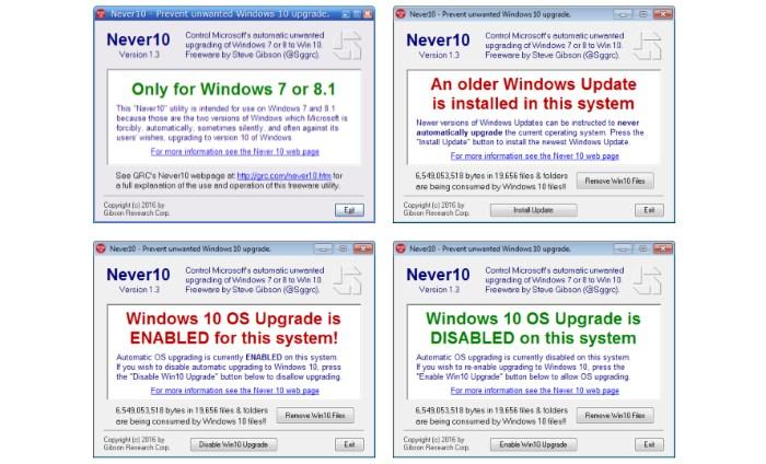 Never10 ecco il software gratuito per bloccare l for Software gratuito per la costruzione della casa